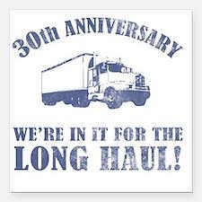 "30th Anniversary Humor ( Square Car Magnet 3"" x 3"""