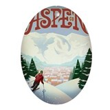 Aspen colorado Oval Ornaments
