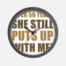 50th Anniversary Humor For Men Wall Clock