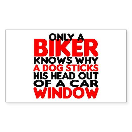 Only a Biker Rectangle Sticker