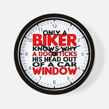 Only a Biker Wall Clock