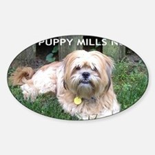 Dusty - Puppy Mill Survivor Sticker (Oval)