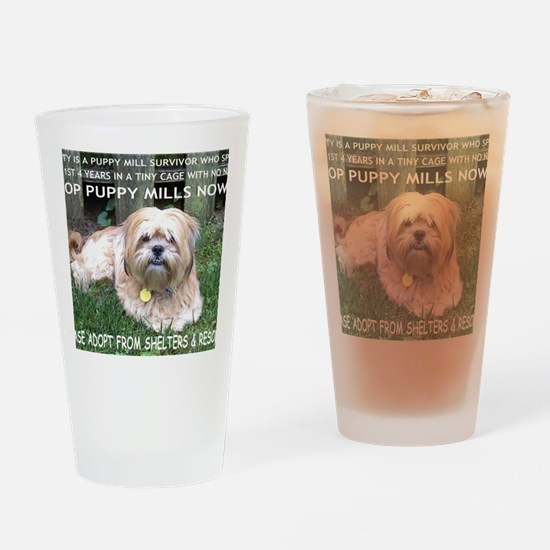 Dusty - Puppy Mill Survivor Drinking Glass