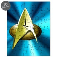 Blue and Gold Star Trek  Tile Puzzle