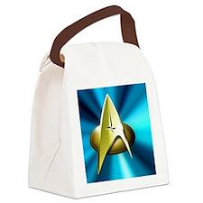 Blue and Gold Star Trek  Tile Canvas Lunch Bag
