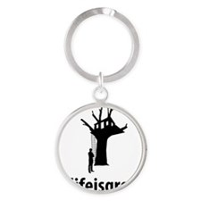 Tree-House-06-A Round Keychain