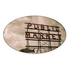 Pike Place Market Neon Sign With Cl Decal