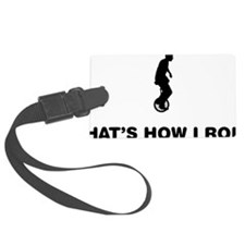 Unicycle-Rider-12-A Luggage Tag