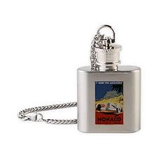 Antique 1935 Monaco Grand Prix Race Flask Necklace
