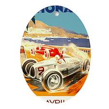 Antique 1936 Monaco Grand Prix Race  Oval Ornament