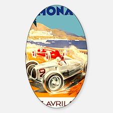 Antique 1936 Monaco Grand Prix Race Sticker (Oval)