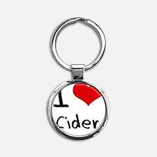 I love Cider Round Keychain
