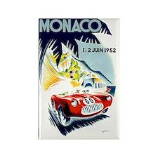 Antique 1952 Monaco Grand Prix Ra Rectangle Magnet