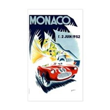 Antique 1952 Monaco Grand Prix Decal