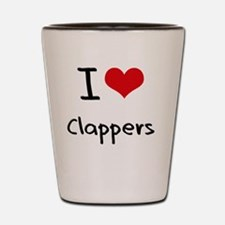 I love Clappers Shot Glass