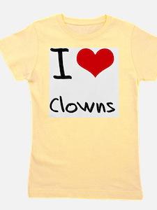 I love Clowns Girl's Tee