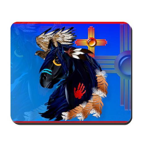 Black Stallion of Morning Mousepad