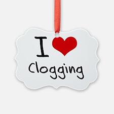 I love Clogging Ornament