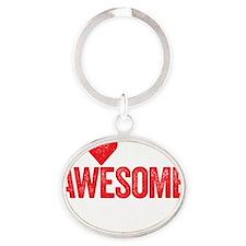 awesome nerds Oval Keychain