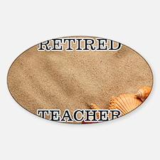 Retired Teacher Sticker (Oval)