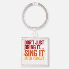 sing it Square Keychain