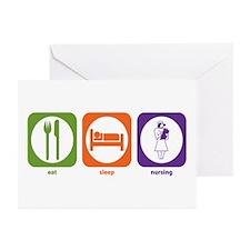 Eat Sleep Nursing Greeting Cards (Pk of 10)