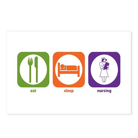 Eat Sleep Nursing Postcards (Package of 8)
