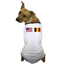 USA & Belgian Flags Dog T-Shirt