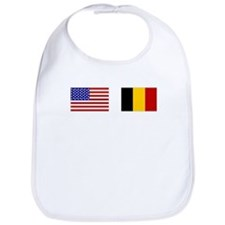 USA & Belgian Flags Bib