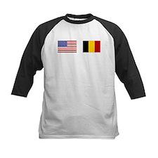 USA & Belgian Flags Tee