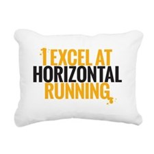 horizontal running Rectangular Canvas Pillow