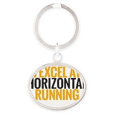 horizontal running Oval Keychain