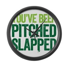 pitch slapped 2 Large Wall Clock