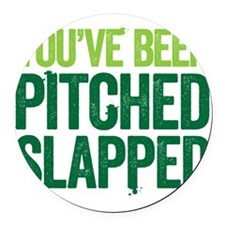 pitch slapped 2 Round Car Magnet