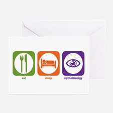 Eat Sleep Opthalmology Greeting Cards (Package of