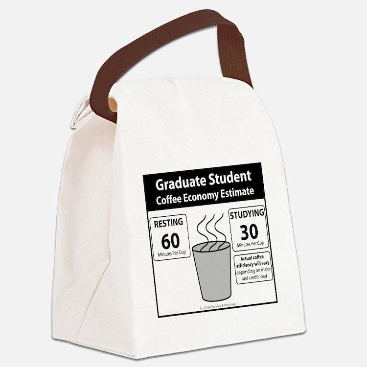 Coffee Economy Canvas Lunch Bag