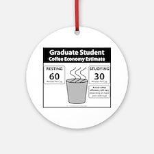 Coffee Economy Round Ornament