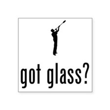 "Glass-Making-02-A Square Sticker 3"" x 3"""
