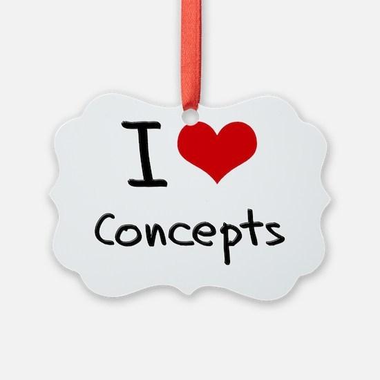 I love Concepts Ornament