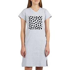 Big Black Polka Dots Women's Nightshirt