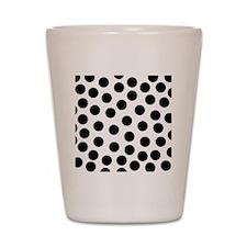Big Black Polka Dots Shot Glass