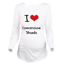 I love Concession St Long Sleeve Maternity T-Shirt