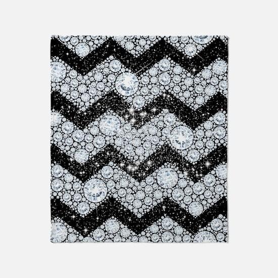 Chevron Diamond and Stars Throw Blanket