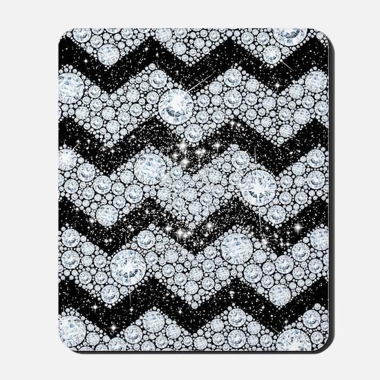 Chevron Diamond and Stars Mousepad