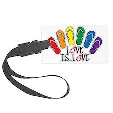 Love Is Love Flip Flops Gay Luggage Tag