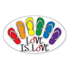 Love Is Love Flip Flops Gay Decal