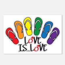 Love Is Love Flip Flops G Postcards (Package of 8)