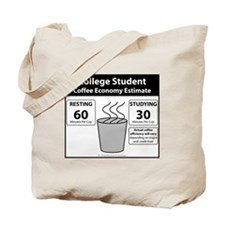 College Student Coffee Economy Tote Bag