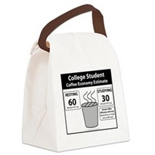 College Student Coffee Economy Canvas Lunch Bag
