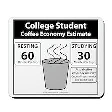 College Student Coffee Economy Mousepad
